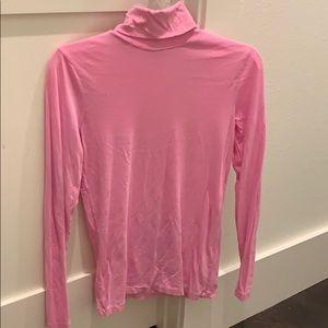 J crew pink turtleneck t-shirt